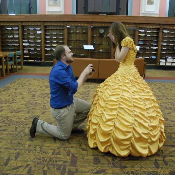 Belle ball gown marriage proposal