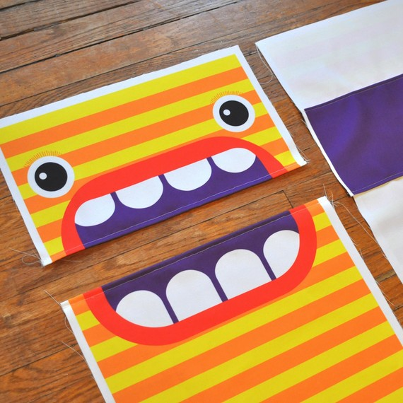 Stitch up the Monster mouth