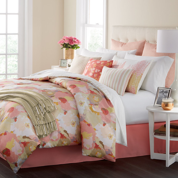 bedding painters pallette floral pinks
