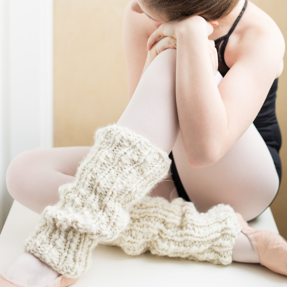 Knitting Pattern Leg Warmers Bulky Yarn : How to Knit a Pair of Snuggly-Soft Leg Warmers   in Any Size Martha Stewart