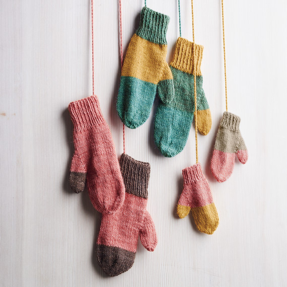 Martha Stewart Knitting Patterns : How to Knit Playful Mittens Using Leftover Yarn Martha ...