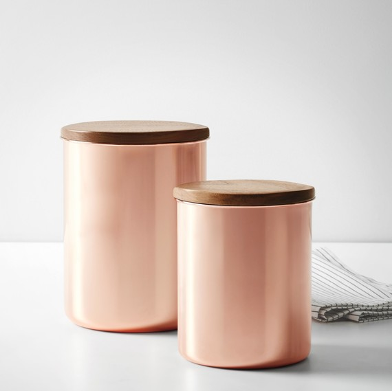 macy's heirloom copper canisters