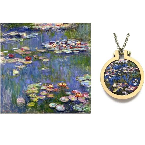 monet waterlillies pendant