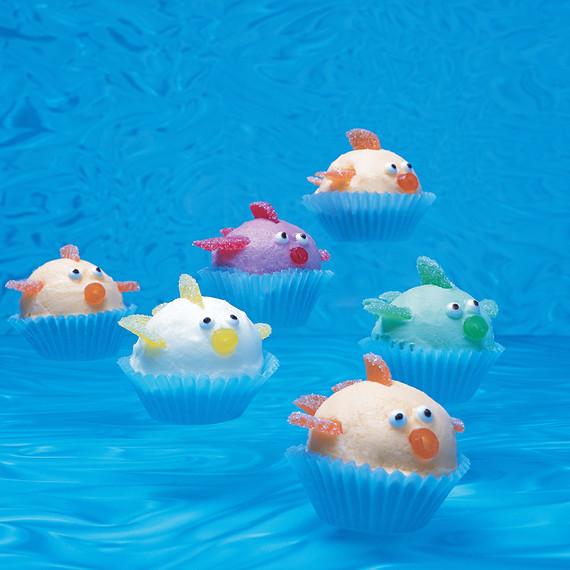 school of sherbet fish
