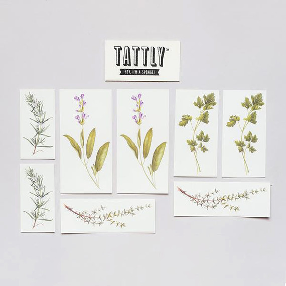 scented herb tattoo variety