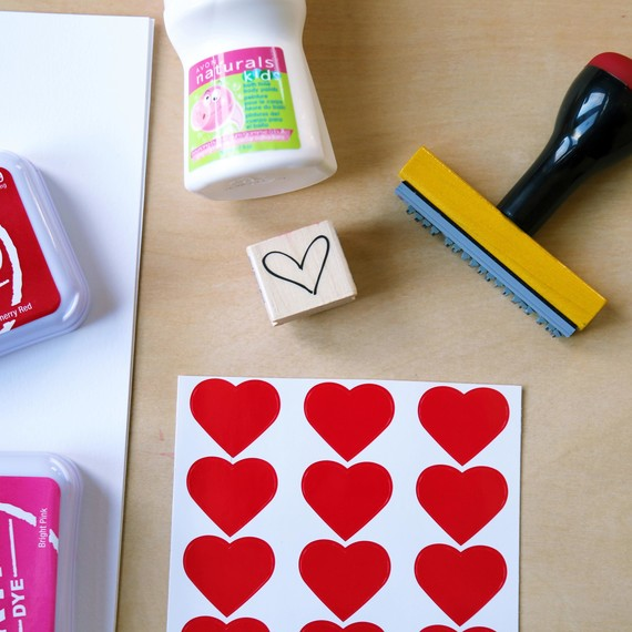 Supplies for scented valentines