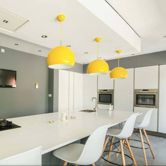 yellow decor pendant lights 0715 - Yellow Decor