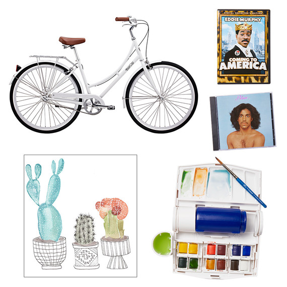 bike watercolor coming to america prince