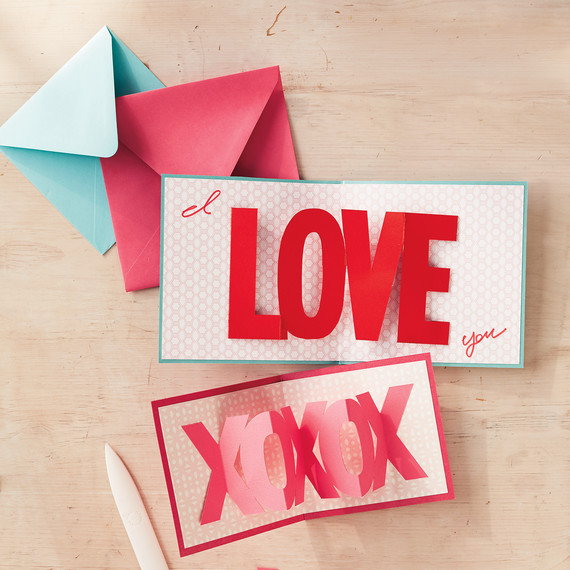 DIY PopUp Cards for Valentines Day – Martha Stewart Valentines Day Cards