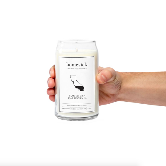 Homesick Candles emit the scent of your favorite state.