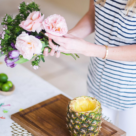 How To Make A Pineapple Centerpiece In 5 Easy Steps Martha Stewart
