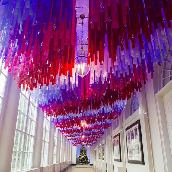 white house obama christmas ceiling