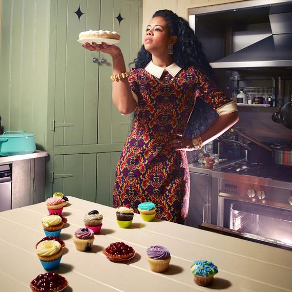 Singer-turned-chef Kelis baking desserts