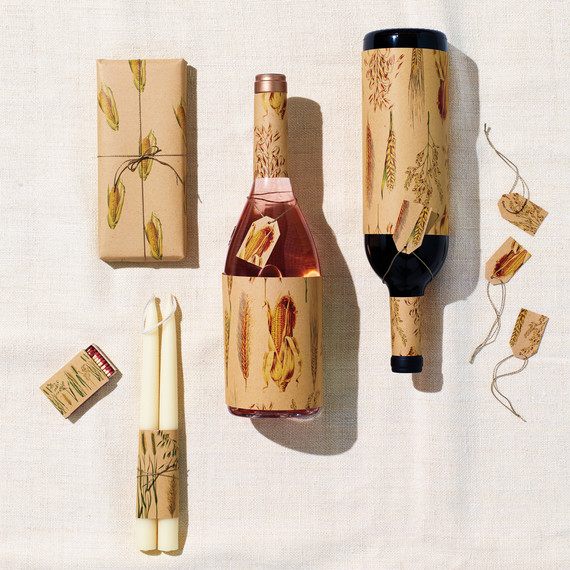 Harvest Gift Wrap For Small Boxes And Wine Bottles
