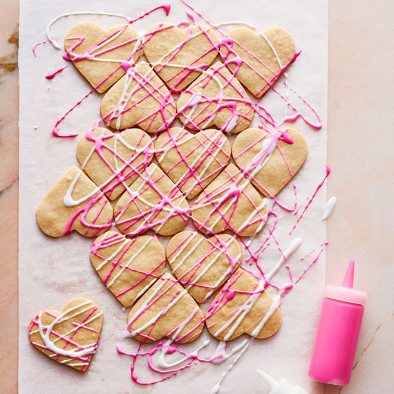 Drizzled Heart Sugar Cookie
