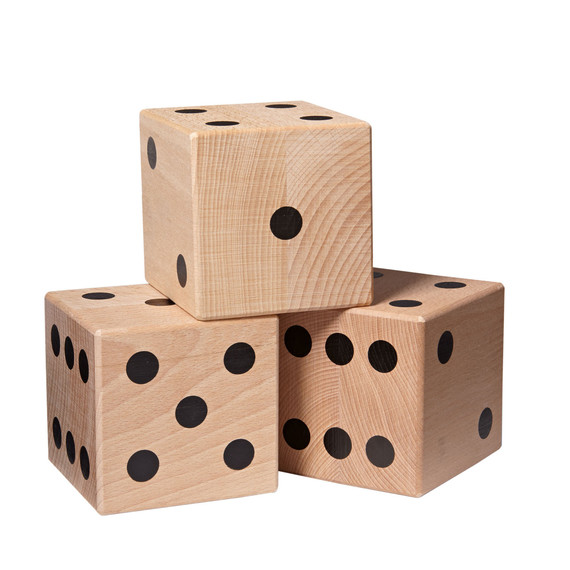 how to make wooden yard dice