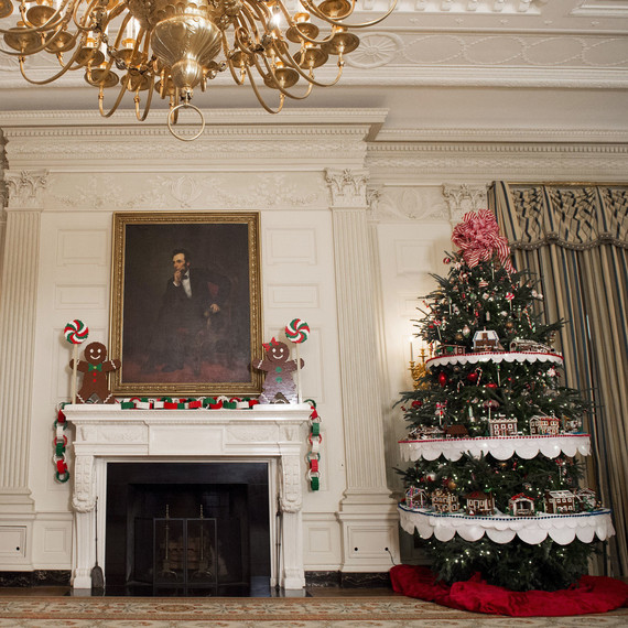 white house obama christmas trees legos
