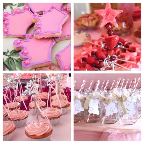 Pink Princess Party Food