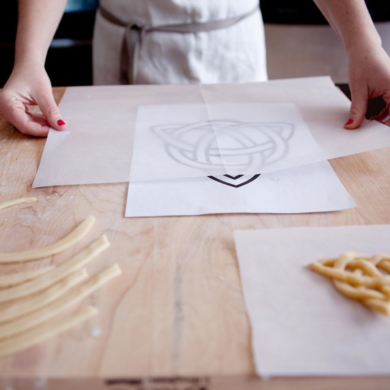 Use a printed out celtic knot image as a guide