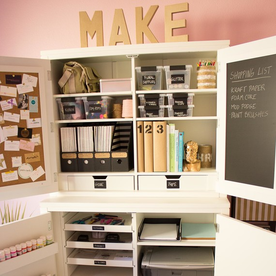 5 Secrets Of A Beautifully Organized Craft Room Martha Stewart
