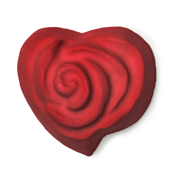 Lush Valentine's Day rose soap
