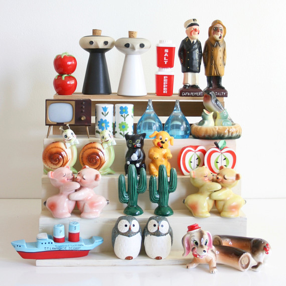 vintage salt and pepper shaker collection