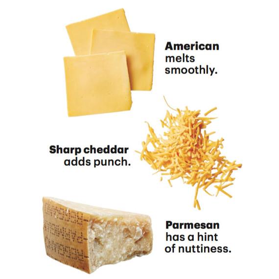 cheeses parmesan cheddar american