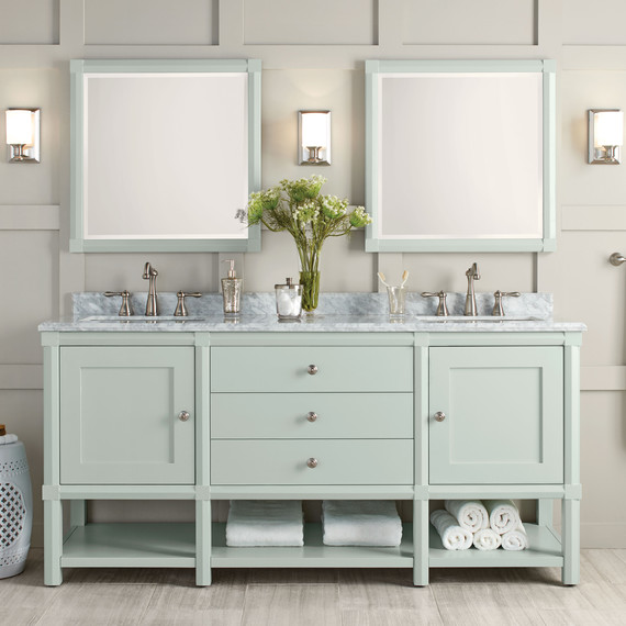 These bath vanities deliver on storage and style martha Custom bathroom vanities home depot