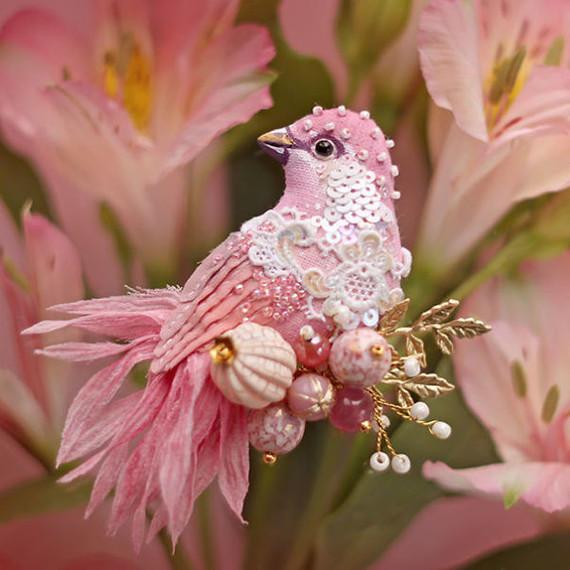beaded birds by Julia Gorina