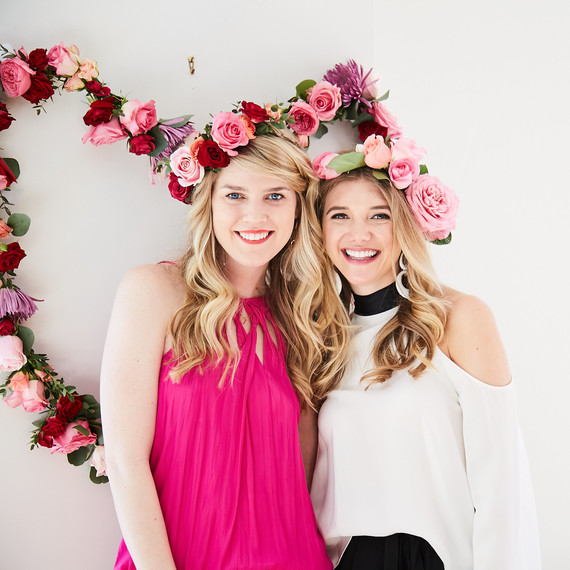 valentines day party flower crowns