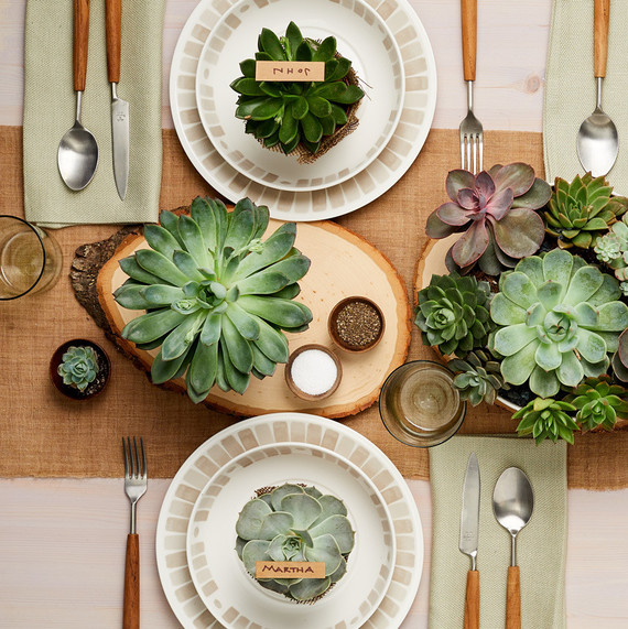 macys gray heirloom collection succulents table setting