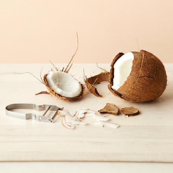 cut coconut peeler