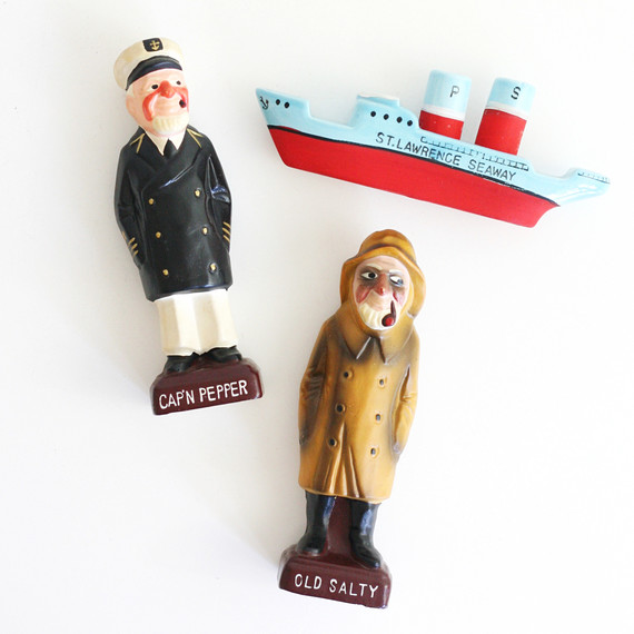 sea vintage salt and pepper shakers