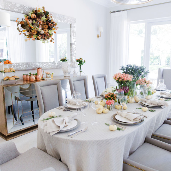 fashionable hostess modern thanksgiving table