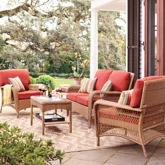 Thd patio deepseating red charlottetown mrkt 0215 jpgLooking to Refresh Your Patio  Here Are 3 Looks to Try    Martha  . Martha Stewart Living Patio Furniture Lake Adela. Home Design Ideas