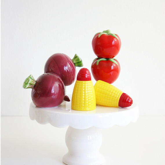 vegetable salt and pepper shakers