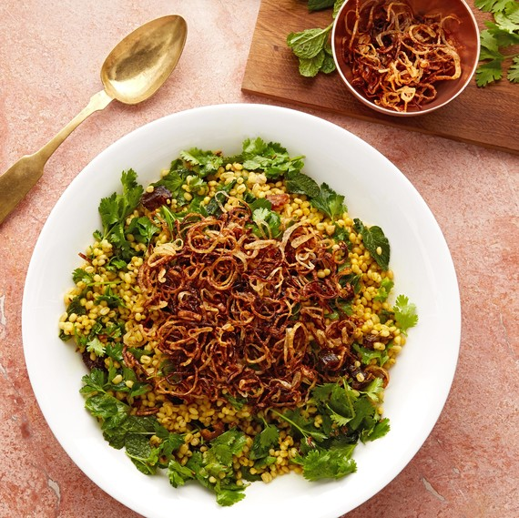 herbed barley salad with dates