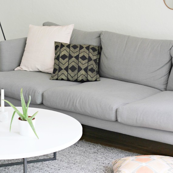 Modern Meets Midcentury: A Living Room Before And After | Martha