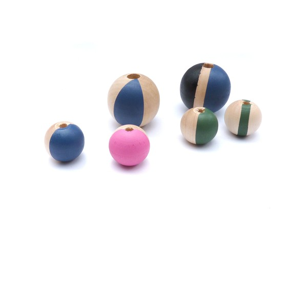 DIY Painted Wood Beads