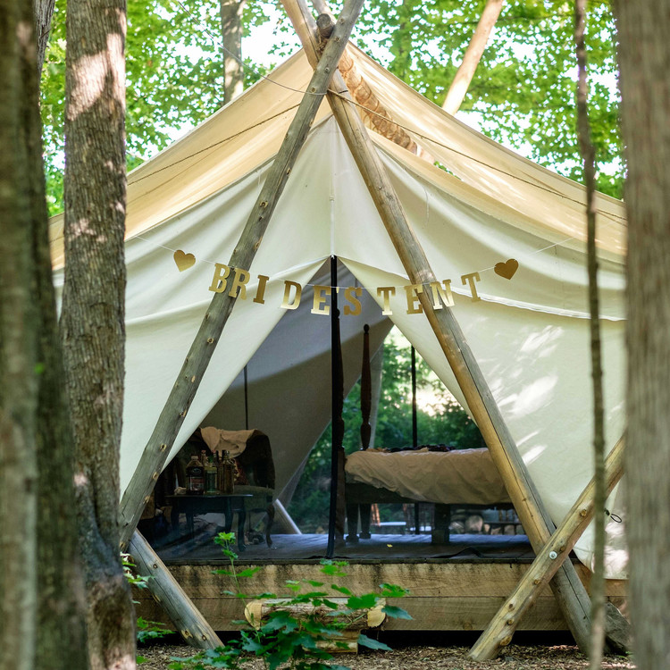 glamping girlfriends trip tent
