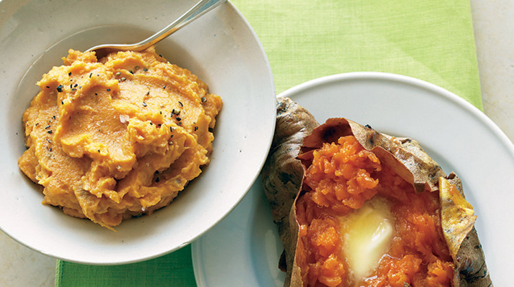 mashed sweet potatoes