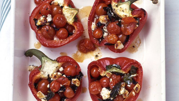 stuffed roasted bell peppers