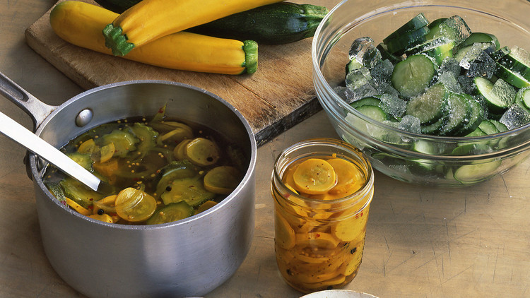sweet and spicy bread and butter pickles