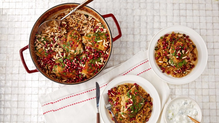 mixed grain pilaf with chicken full frame