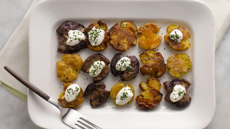 Martha Stewart Cooking School Smashed Potatoes Am 1386