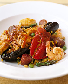Paella for 45, Recipe from Martha Stewart Living Television,