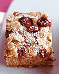 Raspberry-Almond Blondies