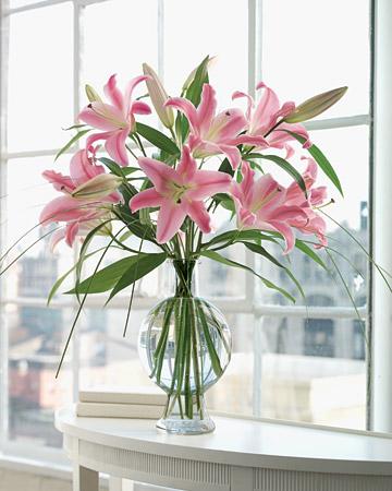 Martha Stewart Pink Oriental Lily Bouquet