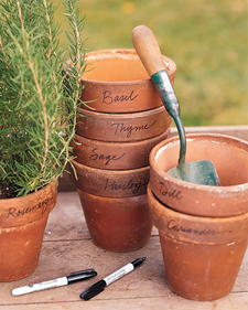 Herb Pots Recipes Crafts Home Dcor and More Martha