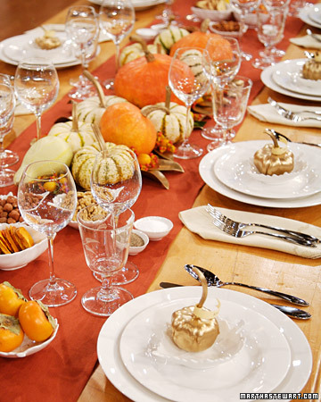 Holiday Table Decorations From 39 39 The Martha Stewart Show